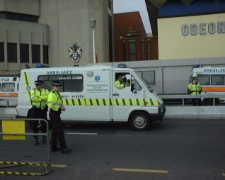 The Regency Ambulance on duty for the Labour Party Conference 2004 | Photo by Terry Wing