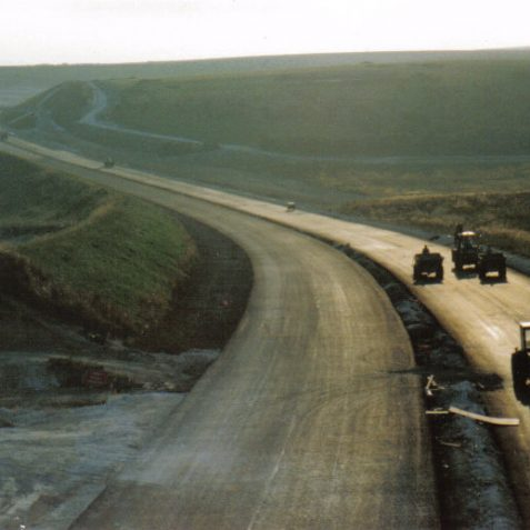 A27 under construction, view from Dyke Railway Bridge c.1991 | Photo by Peter Groves