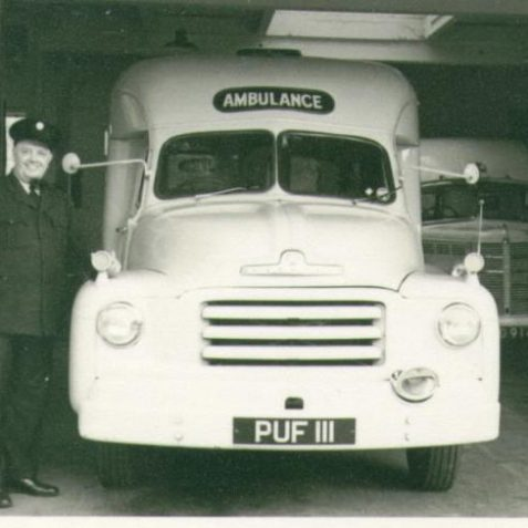 Percy Type and Bedford ambulance | Photo from private collection of Jim Type