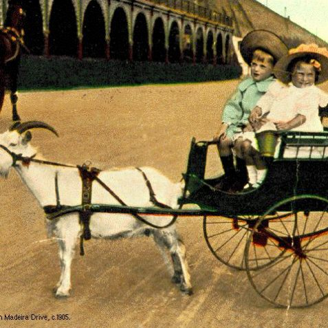 Morning ride on Madeira Drive, c. 1905 | Royal Pavilion and Museums Brighton