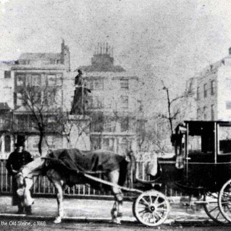 Hansom cab at the Old Steine, c. 1860 | Image from the 1994 My Brighton museum exhibit