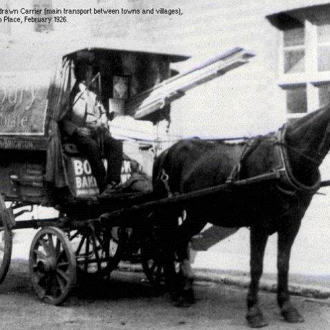 The last horse-drawn carrier leaving Brighton Place, February 1926 | Image from the 1994 My Brighton museum exhibit