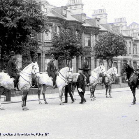 Government inspection of Hove mounted police, 1911 | Image from the 1994 My Brighton museum exhibit