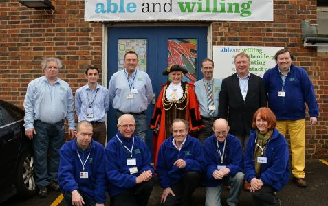 The Mayor of Brighton and Hove visits 'ableandwilling'