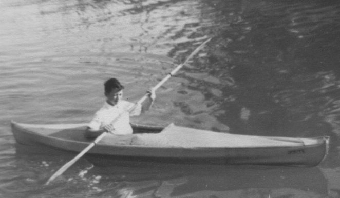 My treasured canoe | From the personal collection of Peter Wood