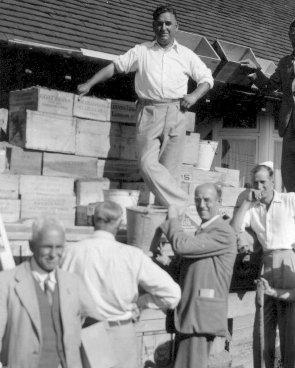 Photo of ARPs organising air raid precautions at Ovingdean | Photo from the Harwood family album