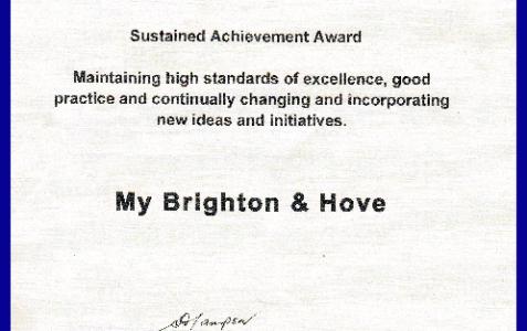 Sustained Achievement Award