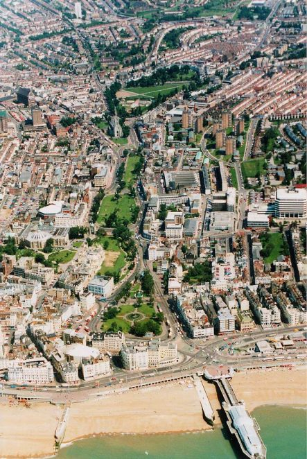 Aerial view of Brighton, July 1991 | From the private collection of Ian McKenzie