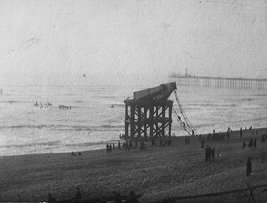 Wreckage of Chain Pier after Great Storm, 5th December 1896   Image reproduced with permission from Brighton History Centre