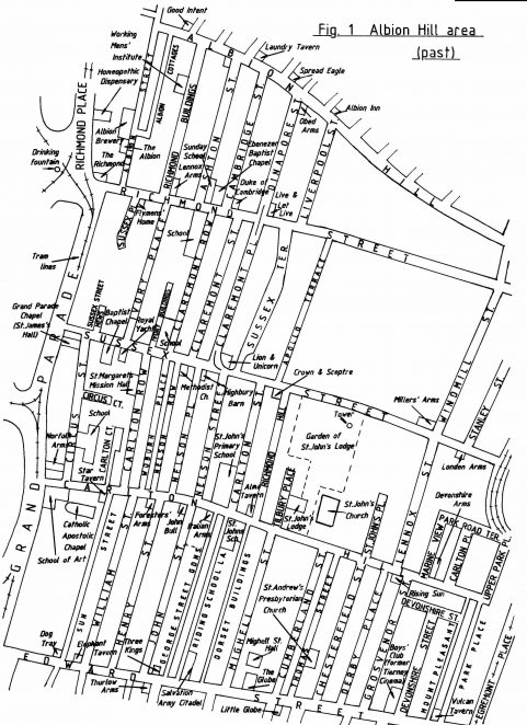 Albion Hill and Carlton Hill areas before redevelopment
