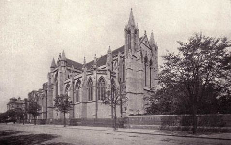 Photo of the church, ca 1910
