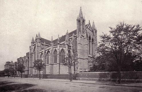 All Saints Church, Hove, circa 1910 | Scanned from an original copy of '67 Views of Brighton, Hove and Neighbourhood'  by kind permission of David Burgess