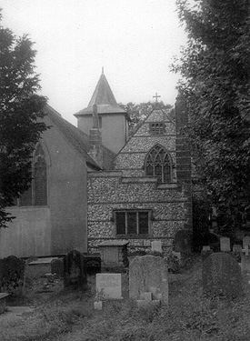 All Saints Church, Patcham, from north east. c1960 | Photo sent by Martin Nimmo 25-01-03