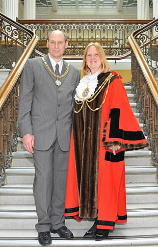 The Mayor of Brighton and Hove, Councillor Anne Meadows and her consort, Tony Meadows | Photo by Tony Mould