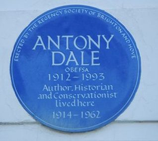 Anthony Dale blue plaque | Photo by Tony Mould