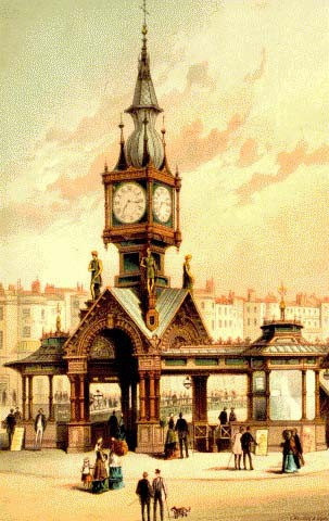 Coloured print showing Brighton aquarium, circa 1880 | Image from the 'My Brighton' exhibit