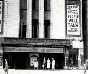 Astoria Cinema - Striding down the wide staircase