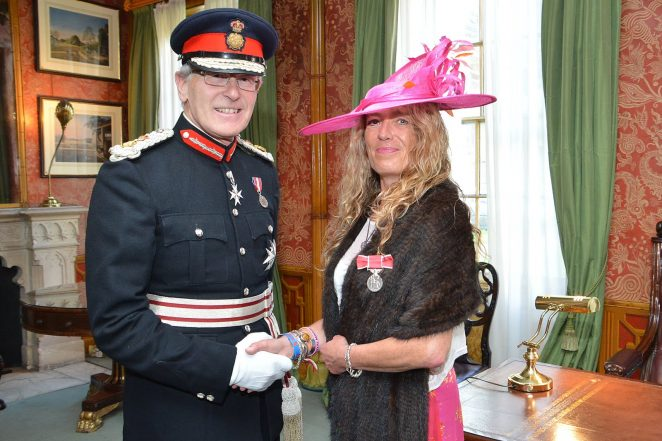 The Lord Lieutenant of East Sussex, Peter Field and Virginia Barnacle BEM