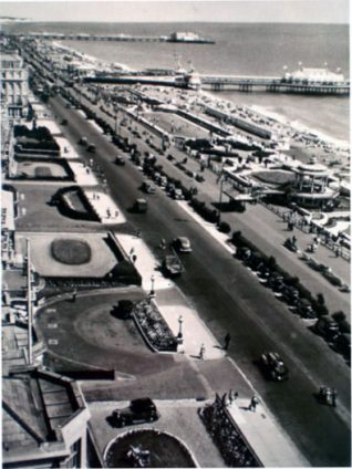 The seafront as seen from an Embassy Court balcony c1930s | From the private collection of Trevor Chepstow