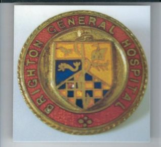 Brighton General Hospital Badge | From the private collection of Ken Ross.