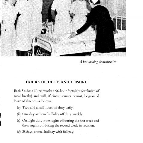 Nurse Training Prospectus: click on the photograph to open a large version in a new window. | From the private collection of Ken Ross
