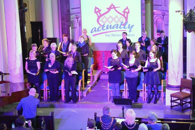 Brighton and Hove Actually Gay Women's Chorus at a recent performance | Photo by Tony Mould