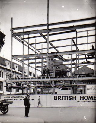 British Home Store under construction 1931 | Peter Groves