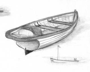 A Brighton boat | Sketch by Bob Herrick
