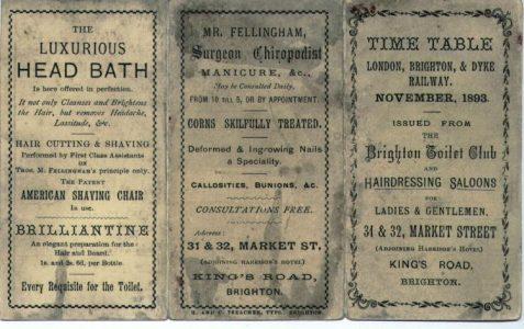 Train timetable, 1893