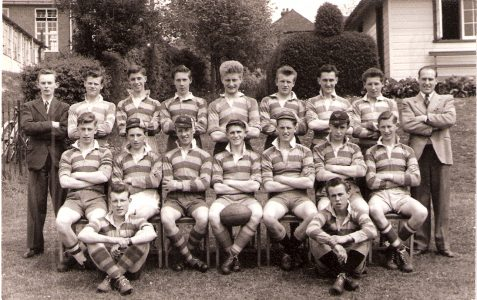 Who was in the BSTC 1954 Rugby Team?