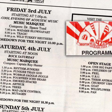 Flyer for Brighton Urban Free Festival | Brighton and Hove City Council