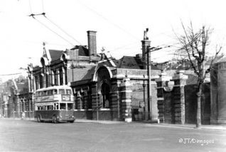 Trolleybus FUF 37 outside Lewes Road Depot in 1959 | From the private collection of Gordon Dinnage