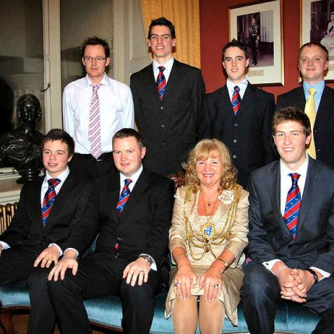 The Mayor and members of the First XI | Photo by Tony Mould
