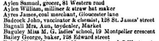 John Badcock's listing | Post Office Directory for Sussex 1851