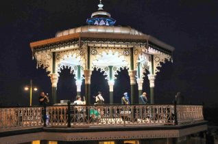 The Bandstand by night | Photo by Tony Mould