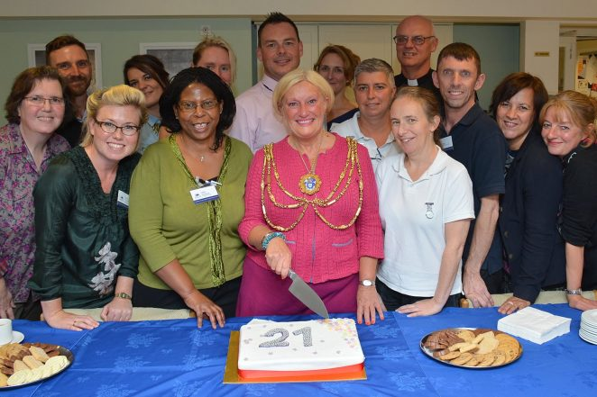 The Mayor of Brighton and Hove, Councillor Denise Cobb, at the Sussex Beacon celebrating their 21st anniversary | Photo by Tony Mould