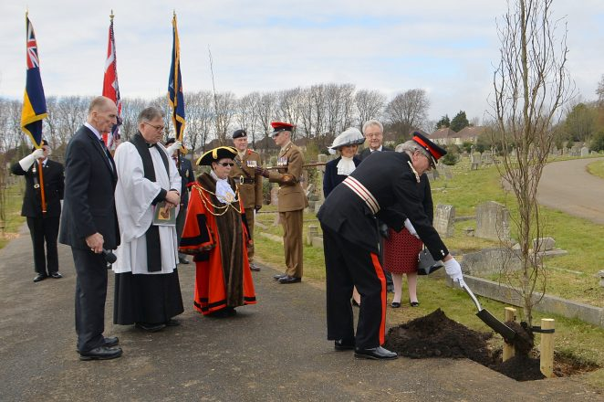 WWI tree planting by the Lord Lieutenant, Mr Peter Field | ©Photo by Tony Mould - click on image to open large version in a new window.