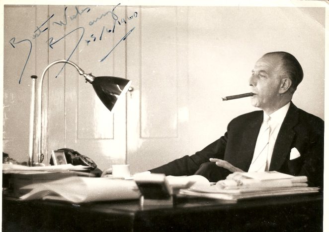 Benny Lee in his office at the Sports Stadium | From the private collection of Eileen Whybrow (his secretary)