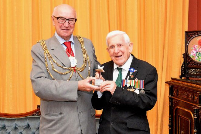 The Mayor of Brighton and Hove, Councillor Brian Fitch with Bernard Jordan | ©Tony Mould: all images copyright protected