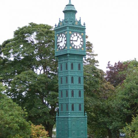 Clock tower donated by Sir John Blaker | Photo by Tony Mould