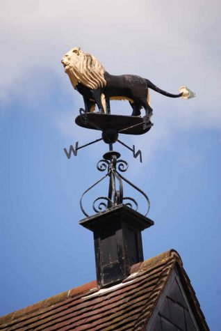 Black Lion weather vane | Photo by Tony Mould