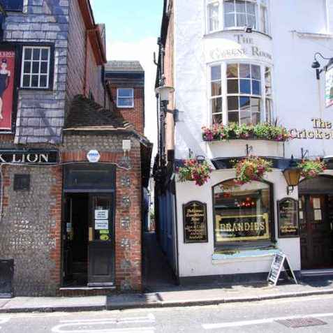 Black Lion Lane is a very narrow twitten between the two pubs. | Photo by Tony Mould