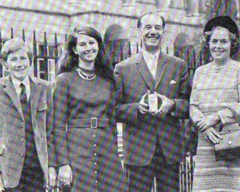 Bob Morris and his family outside Lancaster House | The private collection of Peter Groves