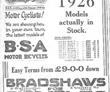 Bradshaw's cycles