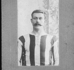 Jack Breeds in a football strip c1906