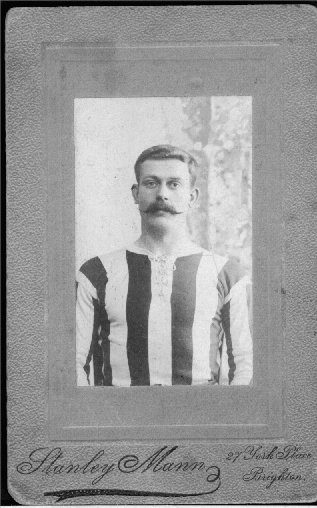 Jack Breeds in football strip c1906 | From the private collection of Carol Trotman Nee Breeds