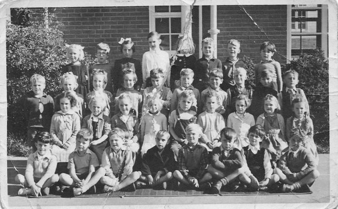 Class photo c1953/54 at Whitehawk Primary School. | From the private collection of Sue Beckett