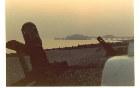 Photo of winches on Brighton beach, 1972