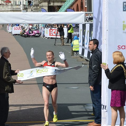 2012 Brighton Marathon Women's winner: Sviatlana Kouhan | Photo by Tony Mould