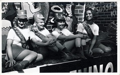 Local lovelies in c1960s carnival parade
